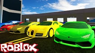 Roblox Adventures / Vehicle Simulator / FASTEST & MOST EXPENSIVE CARS IN THE WORLD!