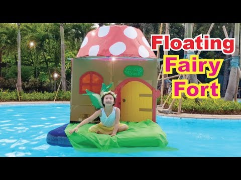 🌻 Floating Box FAIRY Fort !  Believe in Fairies 🍄