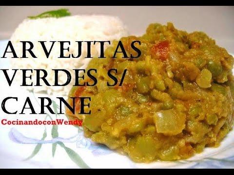 RECETA: GUISO DE ARVEJITAS VERDES SIN CARNE