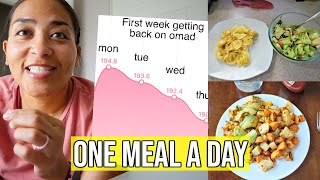 FIRST WEEK BACK ON OMAD! / WHAT I ATE / OMAD & INTERMITTENT FASTING FOR WEIGHT LOSS