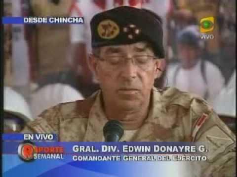 PALABRAS DEL GENERAL DONAYRE A LOS POLITICOS CHILENOS