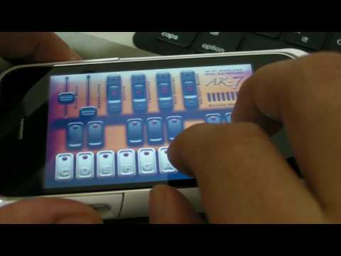 iPhone MIDI Controller 3 Apps AK-7, AG-7, AC-7 Video