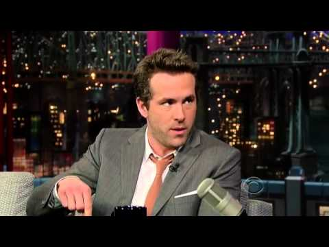 Ryan Reynolds on David Letterman 2012/02/08
