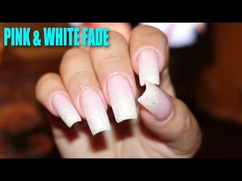 Pink & White Fade • Ombré Nails