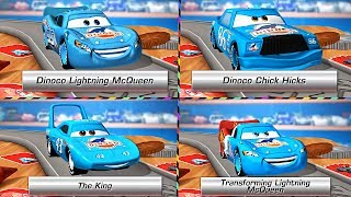 Disney Pixar Dinoco Lightning McQueen - The King Cars Daredevil Garage RACING!