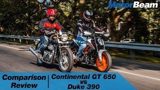 Royal Enfield Continental GT 650 vs KTM Duke 390 | MotorBeam
