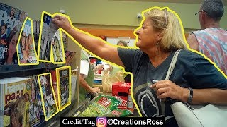 Putting Fake Magazines in Store Checkout Lines Prank