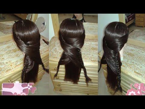 peinados 2015 faciles rapidos y bonitos con trenzas de moda para la escuela para niña cabello largo