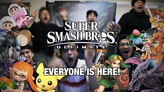 REACTING TO SUPER SMASH BROS ULTIMATE REVEAL! EVERYONE IS BACK?! (Live @ Nintendo E3 2018)
