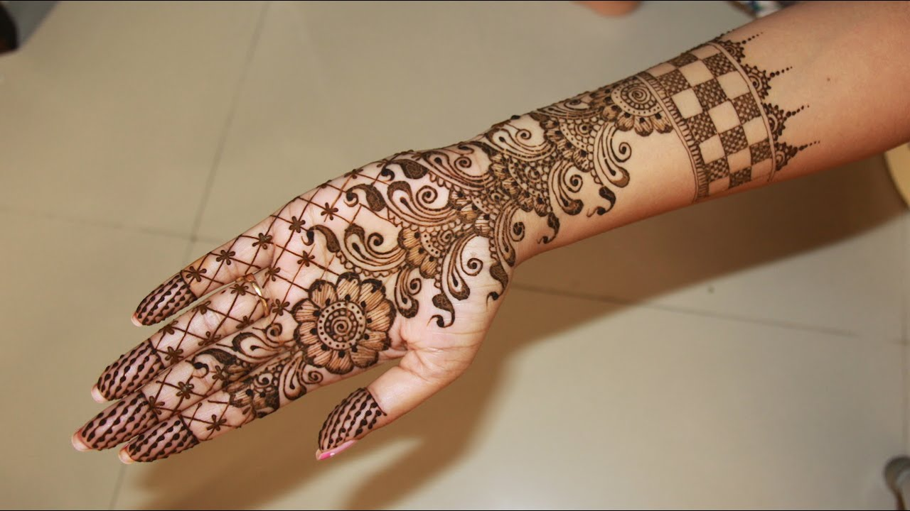 Mehndi Designs Tutorial : Full hand bridal henna mehndi designs tutorial youtube