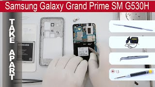 How to disassemble 📱 Samsung Grand Prime G530H, Take Apart, Tutorial