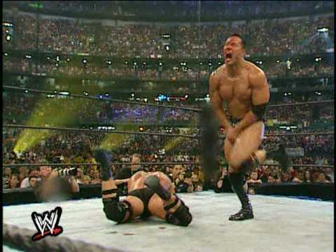 The Rock Vs Steve Austin Wrestlemania 17    Part 4 (hd) video