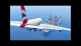 Top 5 most dangerous airports in the world! -=HD=- Aircraft landing in a side wind with no crash es