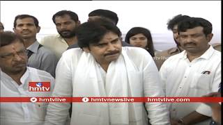 Pawan Kalyan Press Meet After 'Bhoomi Pooja' For His  New House  | hmtv