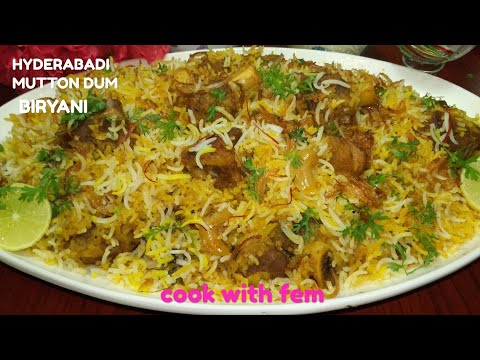 Hyderabadi Mutton Dum Biryani | मटन दम बिरयानी | Restaurant Style Mutton Dum Biryani- English Subs