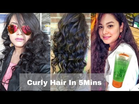 (हिंदी) How to CURL Your Hair With a Hair Straightener/ Flat Iron | CURLY HAIR In 5Mins