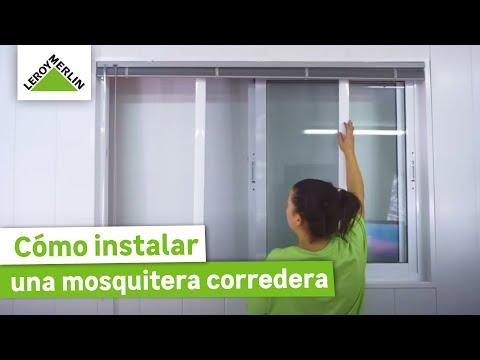 Cómo instalar una mosquitera corredera para ventanas - LEROY MERLIN