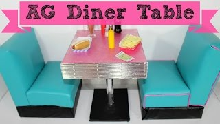 Doll Diner Table | DIY American Girl Doll Crafts