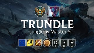 Trundle Jungle vs Master Yi - EUW Challenger Patch 8.15
