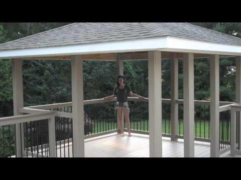 Building Backyard Deck And Gazebo Youtube