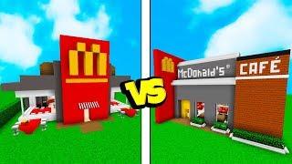 CONSTRUINDO O MELHOR McDONALD'S - Minecraft Batalha de Construção