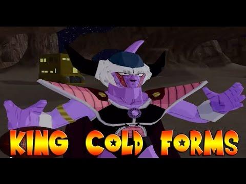 King Cold Forms 1-2-3-4-5 VS King Vegeta & Bardock - DBZ Budokai Tenkaichi 3 MOD