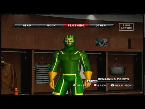 Smackdown Vs Raw 2010 Caw how to make Kick Ass  part 5/5