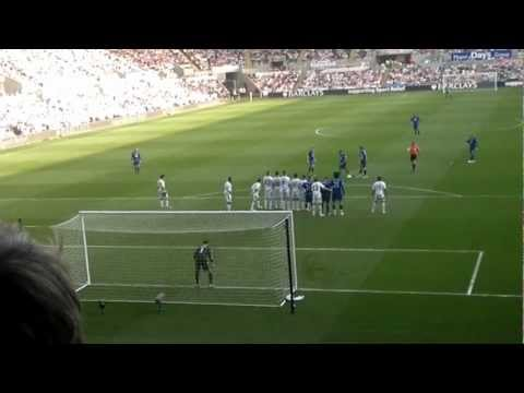Baines Free kick - Swansea Vs Everton 24/03/11