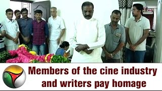 Members of the cine industry and writers pay homage to writer Ashokamitran