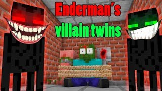 Monster School : EVIL ENDERMAN TWINS Life Challenge - Rusplaying Minecraft Animation