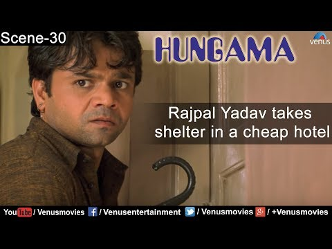 Rajpal Yadav Takes Shelter In A Cheap Hotel ( Hungama ) video