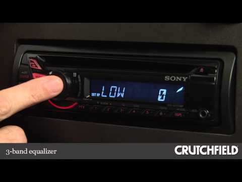 Sony CDX-GT270MP CD Receiver Display and Controls Demo | Crutchfield Video