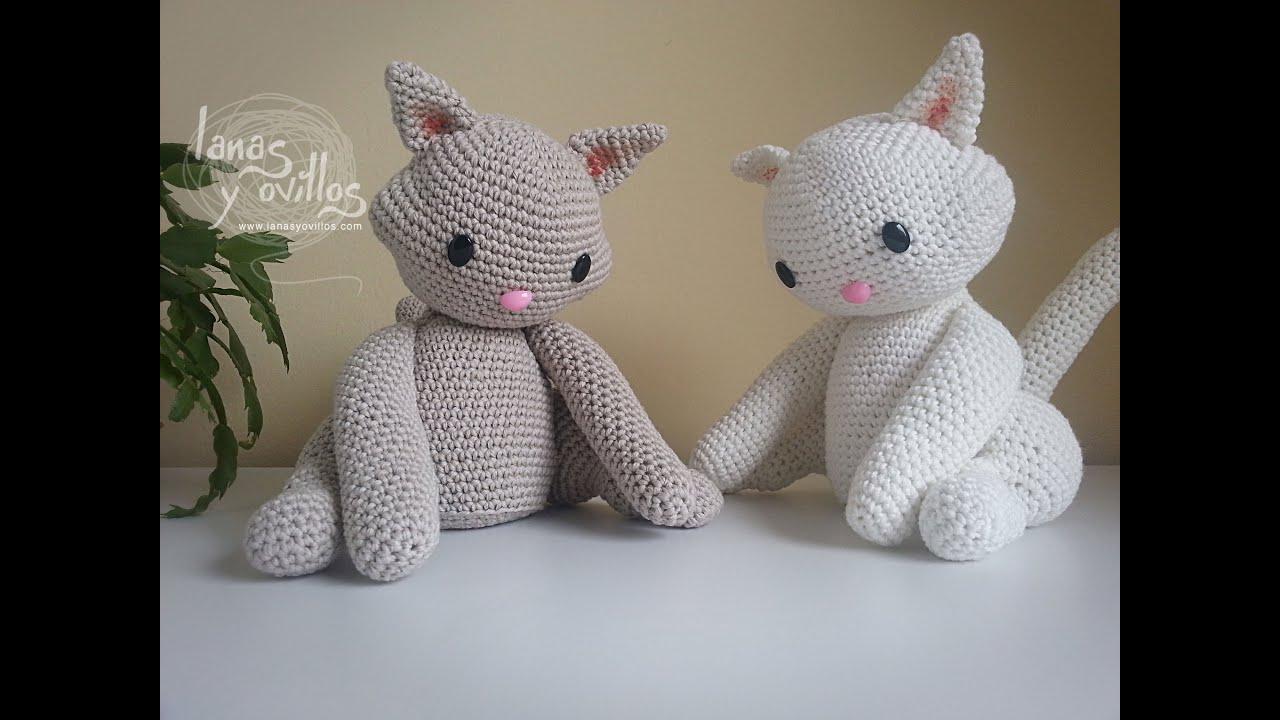 Amigurumi Cat : Tutorial Gato Amigurumi Cat (1-2) (English subtitles ...