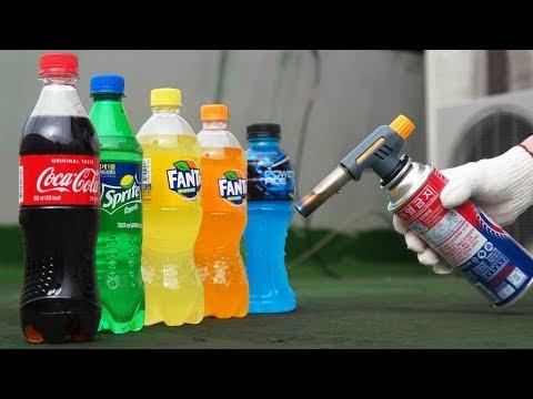 GAS TORCH VS COCA-COLA VS SPRITE VS FANTA VS POWERADE