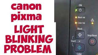 canon pixma light blinking problem solved
