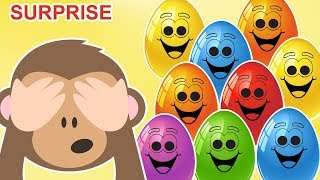 Surprise Eggs Animals | Learn Animals and Animal Sounds | Nursery Rhymes