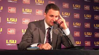 LSU coach Will Wade on poor defensive performance in second half in win over Samford