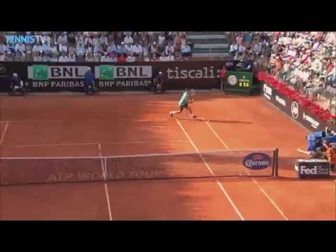 Roger Federer Hot Shot Rome 2015 vs. Novak Djokovic