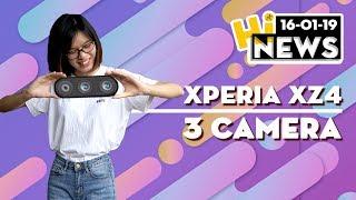 Xperia XZ4 3 camera, smartphone Vivo màn hình cong , tràn viền I Hinews