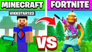 EPIC FORTNITE vs. MINECRAFT KILLS CHALLENGE WITH VIKKSTAR123
