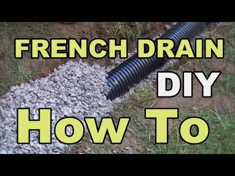 DIY FRENCH DRAIN PROJECT
