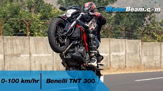 Benelli TNT 300 - 0-100 km/hr & Exhaust Note | MotorBeam