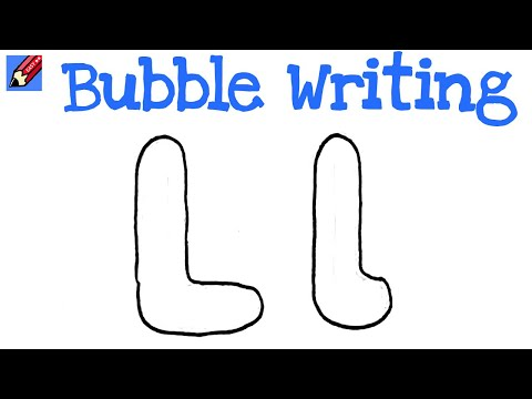How To Draw Letter J In Bubble Words