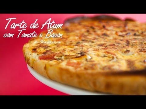 Receita de Tarte de Atum com Tomate e Bacon