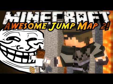 Minecraft Awesome Jump Map 2 : ULTIMATE TROLLAGE!