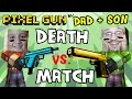 Pixel Gun W/ Dad & Son: Captain America is O.P.! / Mike's Peek Cheat (pt. 4)