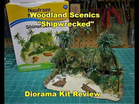 Woodland Scenics Shipwrecked Diorama Model Kit Review Build SP4260
