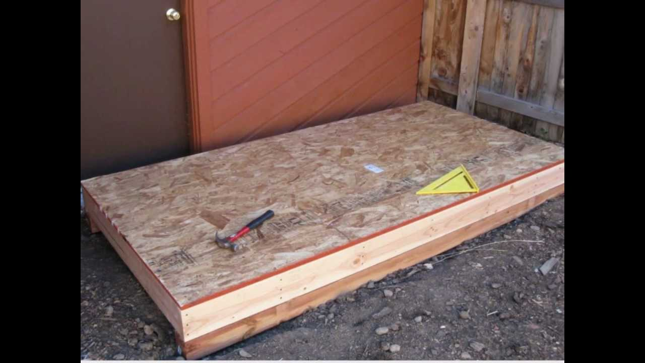 How to build a back yard lean to storage shed youtube for Side of the house storage shed