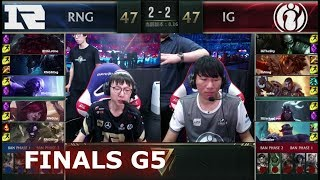 iG vs RNG - Game 5 | Grand Finals S8 LPL Summer 2018 | Invictus Gaming vs Royal Never Give Up G5
