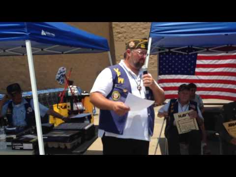 VFW Post 1839 gives history of the United States Flag for Salute to the Troops event